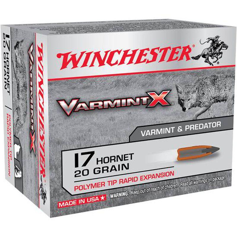 Winchester Varmint X .17 Hornet Ammunition 20 Rounds, PT, 20 Grain