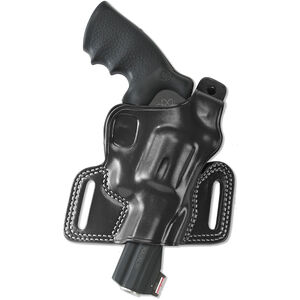Galco Silhouette Hi-Ride Belt Holster Fits S&W N-Frame Revolvers Right Hand Leather Black