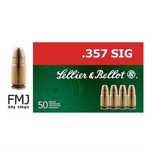 Sellier & Bellot .357 SIG Ammunition 50 Rounds FMJ 140 Grains SB357SIG