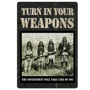 River's Edge Products Turn In Your Weapons Sign Metal 12 Inches by 17 Inches 1589
