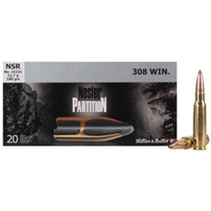 S&B 308 Win 180 Grain Nosler Partition SP Bullet 20 Rounds