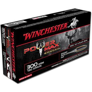 Winchester Power Max .300 WSM Ammunition 20 Rounds Bonded PHP 180 Grains X300WSMBP