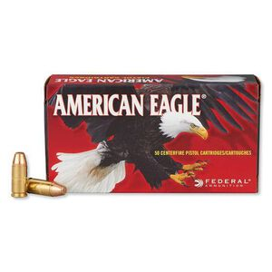 Federal American Eagle 9mm Ammunition FMJ Flat Point 147 Grain 1,000 Feet Per Second