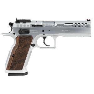 IFG Tanfoglio Defiant Stock Master .40 S&W Semi Auto Pistol 14 Rounds Adjustable Sights Large Frame Hard Chromed Finish