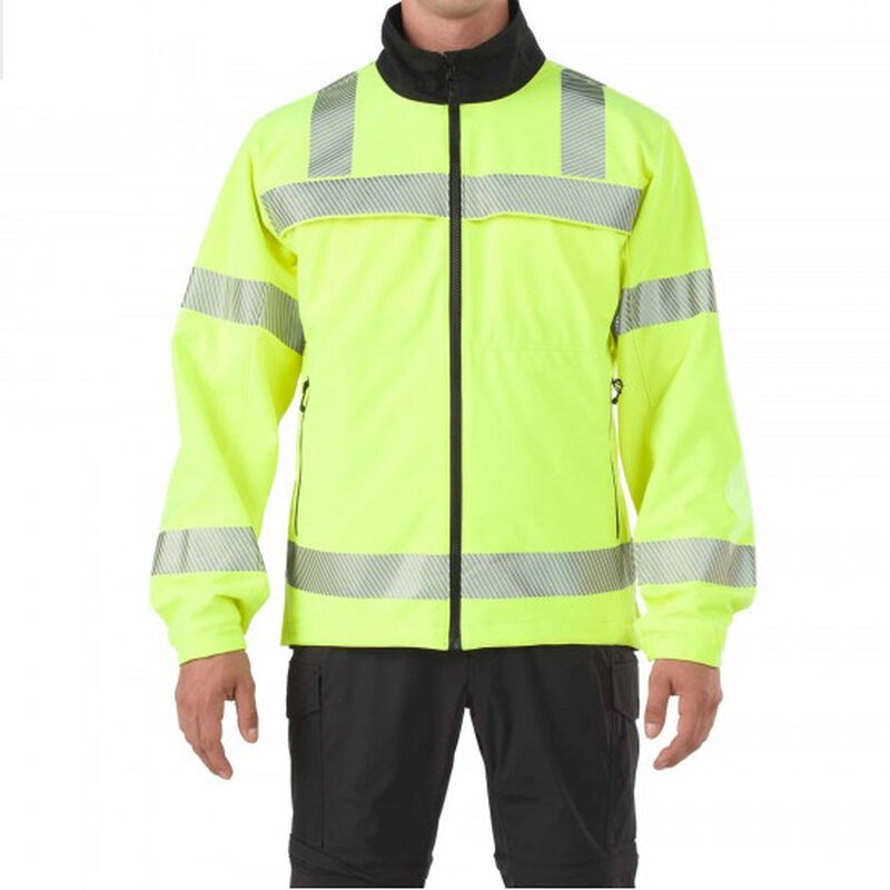 5.11 Tactical Reversible Hi-Vis Softshell Jacket Size Large Polyester High-Vis Yellow/Black 48171