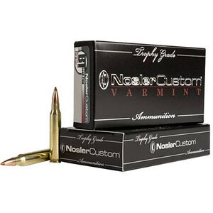 Trophy Grade Ammunition 22-250 Remington, 35 Grains, Ballistic Tip Lead-Free Varmint, Per 20