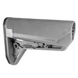 Magpul MOE SL-S AR-15 Carbine Stock Mil-Spec Diameter Compact Storage Compatible Ambidextrous Release Latch Polymer Gray