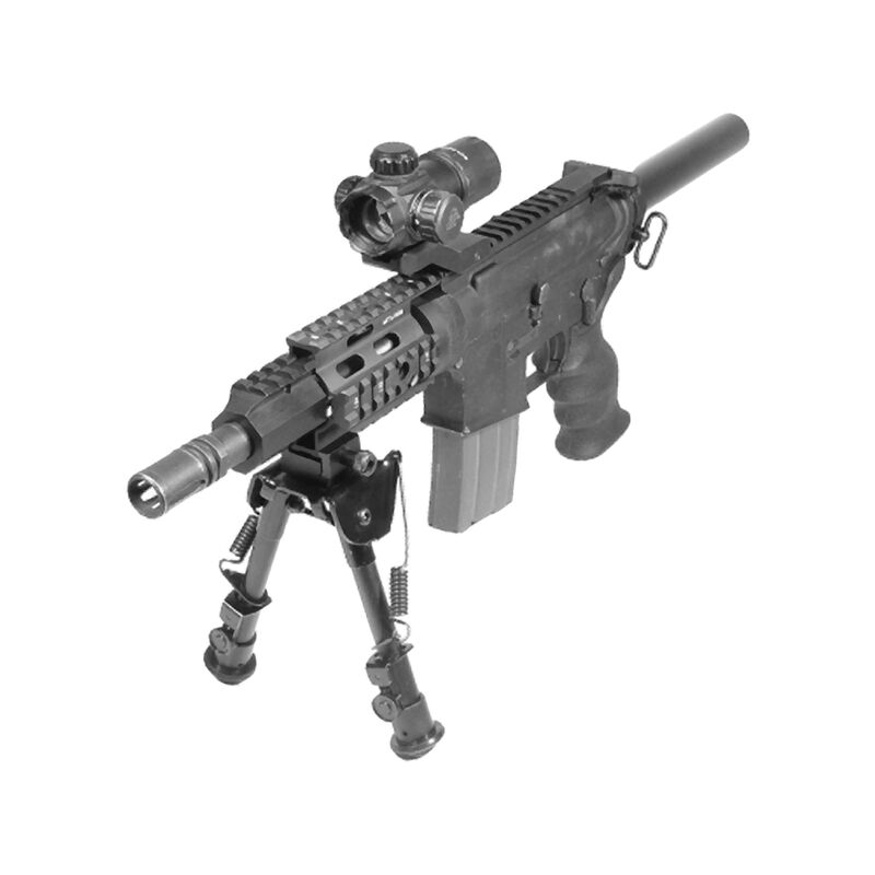 "Leapers UTG Pro AR-15 Pistol 4"" Free Float Quad Rail System Aluminum Black with 4x Rail Covers MTU008"