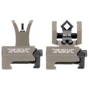 Troy Micro DOA BattleSights Set Di-Optic Flip Up Sights Picatinny Flat Dark Earth TRYSSIGMCMSSFT00