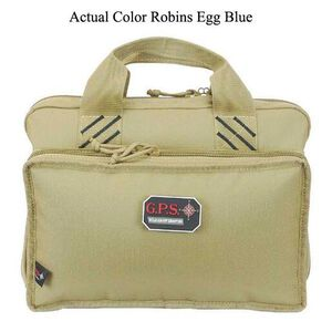 G Outdoors G.P.S. Quad Pistol Case Nylon Robins Egg Blue