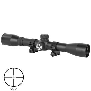 "Barska Plinker-22 Rifle Scope 1"" Tube 4x 32mm 30/30 Cross Reticle 1/4"" MOA Adjustments Matte Finish"