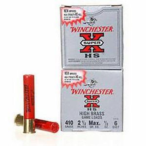 "Winchester SuperX Game .410 2-1/2"" #6 Shot 1/2oz 25 Rd Box"