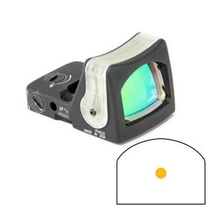 Trijicon RMR Reflex Sight Dual Illuminated Tritium/Fiber Optic 9 MOA Amber Dot Reticle Aluminum Black RM05