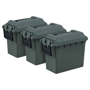 "Reliant Three Piece Mini Ammo Box 8.50"" x 6.75"" x 4.25"" Polymer Green"