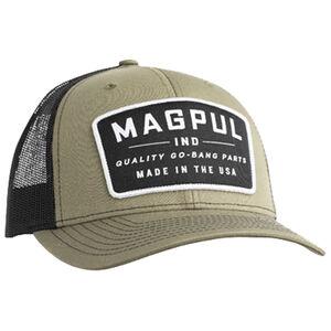 Magpul Go Bang Trucker Cap One Size Fits Most Mesh Back Panels OD Green Front Black Back