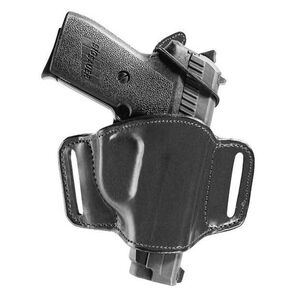 Bianchi Model 105 Minimalist Belt Holster Right Hand Fits 1911 Government/Commander Leather Black