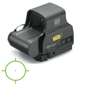 EOTech EXPS2-0 Green Holographic Weapon Sight 65 MOA Circle and 1 MOA Dot Non Night Vision Compatible CR123 Battery Quick Release Mount Weaver/Picatinny Black