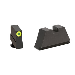 Ameriglo 3XL Tall Sight Set for GLOCK Green Tritium Front Dot with LumiGreen Outline Front and Flat Black Rear