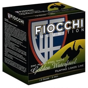 "Fiocchi Golden Waterfowl 12 Gauge Ammunition 3"" #1 Shot 1-1/4oz Steel 1350fps"