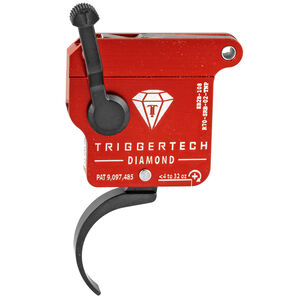 Trigger Tech Remington 700 Clone Actions Diamond Trigger Single Stage Pro Clean Curved 7075 Aluminum Anodized Housing Red