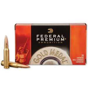 Federal Gold Medal Match .308 Winchester Ammunition 200 Rounds 168 Grain Sierra MatchKing Boat Tail Hollow Point 2650fps