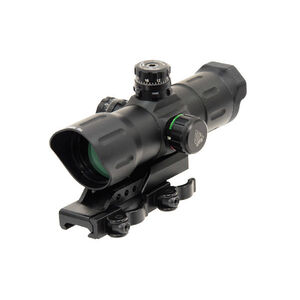 "Leapers UTG 6"" ITA Red/Green CQB Sight T-Dot Reticle 1/2 MOA Adjustments Offset QD Mount Matte Black SCP-TDTDQ"