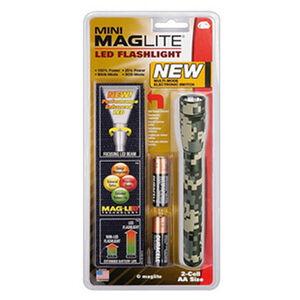 Maglite LED Mini-Mag Flashlight 2 AA Batteries 97 Lumen Aluminum Nylon Holster UCP Camo SP22MRH