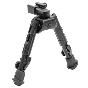 "Leapers UTG Heavy Duty Recon 360 Bipod 5.59"" to 7.0"" Picatinny/Swivel Stud Mount Aluminum Matte Black TL-BP02"