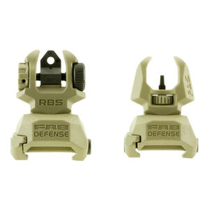 FAB Defense Front and Rear Folding Sight Set Polymer FDE