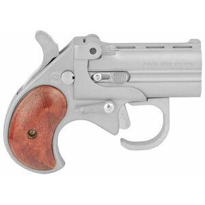 "Bearman Industries Big Bore Derringer With Guardian 9mm Luger 2.75"" Barrel 2 Rounds Silver Cerakote Finish Wood Grips"