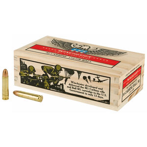 Winchester WWII Victory Series .30 Carbine Ammunition 20 Rounds 110 Grain Full Metal Jacket 1990fps Limited Edition