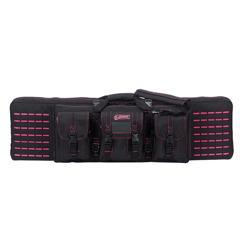 """Voodoo Tactical 42"""" Padded Weapons Case Nylon Black/Pink"""