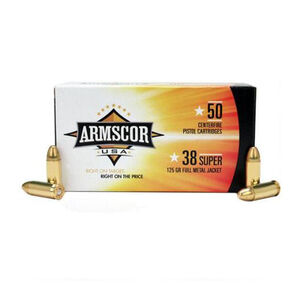 Armscor USA .38 Super Ammunition 1000 Rounds FMJ 125 Grains F AC 38SUPER-1N