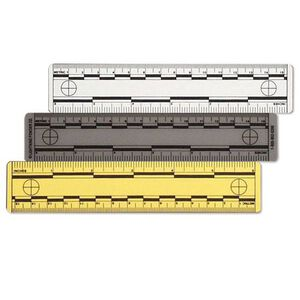 """Armor Forensics Vinyl 6"""" Ruler Assorted Colors Pack of 12 6-3815"""