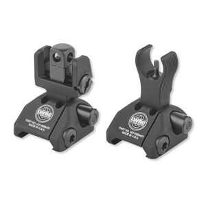LWRC Skirmish AR-15 Folding Sight Set Same Plane Aluminum Black 200-0065A01