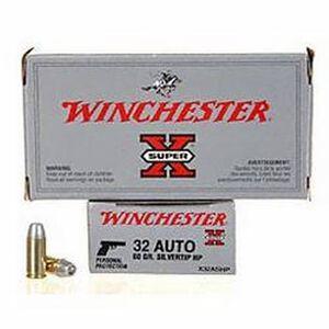Winchester Super X .32 Auto Ammunition 50 Rounds SHP 60 Grain 970 FPS