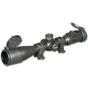 Leapers UTG Accushot 3-12x44 Rifle Scope w/ 36-Color Mil-Dot Reticle, Matte Black