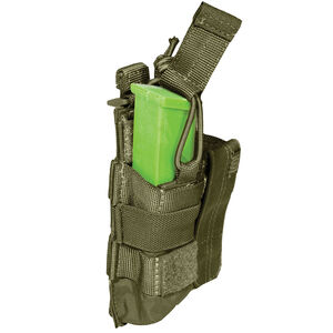 5.11 Tactical Double Pistol Magazine Bungee Cover SlickStick and MOLLE Elastic Compression Tac OD Green 56155