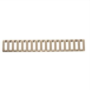 ERGO Low Profile Picatinny Ladder Rail Cover 18 Slot Santoprene 3 Pack Coyote Brown 4373-3PK-CB