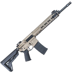 "Barrett REC7 AR-15 Semi Auto Rifle 5.56 NATO 16"" Barrel 30 Round Magazine Gas Piston System Enhanced M-LOK Hand Guard 6-Position Stock Cerakote FDE Finish"