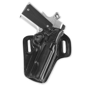"""Galco Concealable Belt Holster Fits 1911 4"""" with Rail Right Hand Leather Black"""