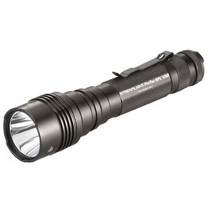 Streamlight ProTac HPL USB 1000 Lumen Tactical White LED Flashlight Multi-Fuel Compatible Ten-Tap Programming Removable Pocket Clip Aluminum Housing Matte Black Finish