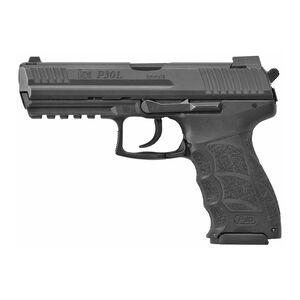 """HK P30L 9mm Luger Long Slide Semi Auto Pistol 4.45"""" Barrel 17 Round Magazine V3 DA/SA Rear Decocking Button Fixed Sights Matte Black Finish"""