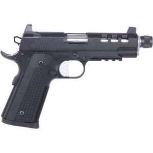 "Dan Wesson Discretion Commander 1911 .45 ACP Semi Auto Pistol 5"" Threaded Barrel 8 Rounds Suppressor Height Night Sights G10 Grips Black"