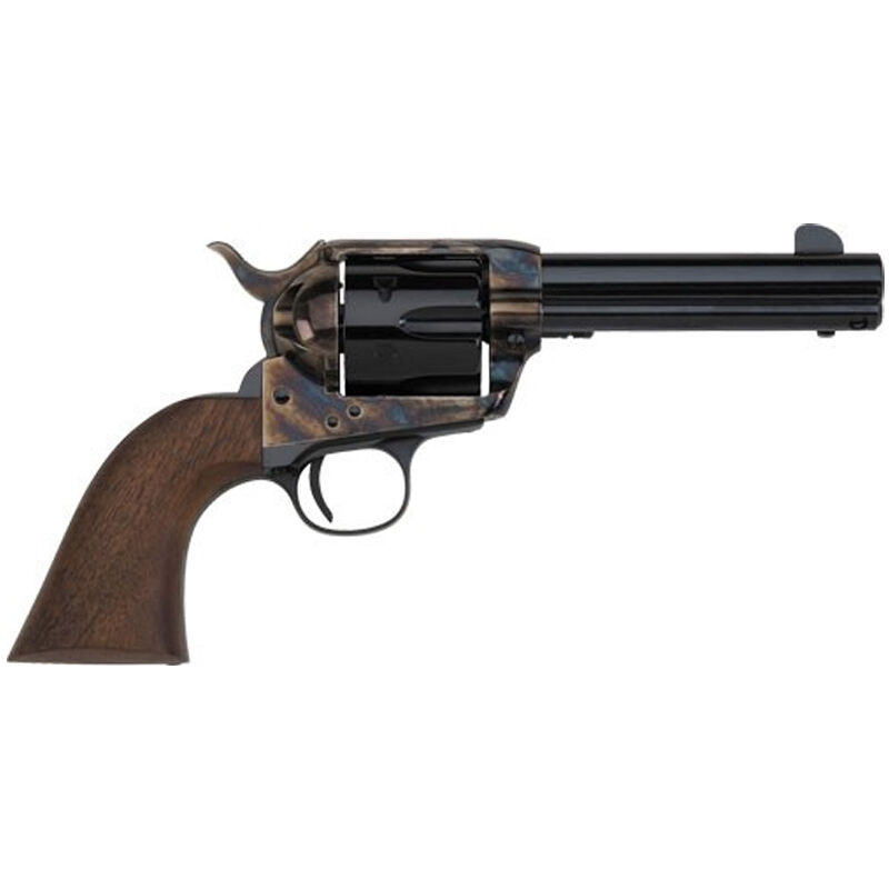 """E.M.F. Great Western II Deluxe Californian Revolver 45 LC 4.75"""" Barrel 6 Rounds Case Hardened Frame Checkered Walnut Grips Blued"""