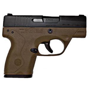 "Beretta Nano 9mm Semi Auto Pistol 3"" Barrel 8 Rounds FDE Polymer Frame Matte Black Slide"