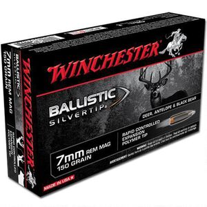 Winchester Silvertip 7mm Remington Magnum Ammunition 20 Rounds BST 150 Grains SBST7