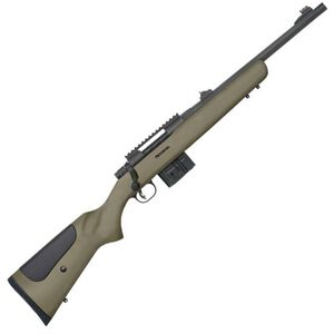 "Mossberg MVP LR Tactical Bolt Action Rifle .308 Win/7.62 NATO 16.25"" Medium Bull Threaded Barrel 10 Rounds Rifle Sights Picatinny Rail Green Synthetic Stock Matte Blued 27699"