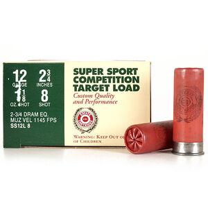 "Ammo 12 Gauge Estate Cartridge Super Sport 2-3/4"" #8 Lead 1-1/8 Oz 1145 fps 250 Round Case SS12L 8"