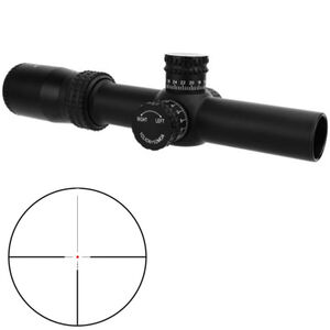 TacFire HD 1-4x30 Riflescope Red Dot Reticle 30mm Tube .25 MOA per Click Fixed Parallax Matte Black Finish